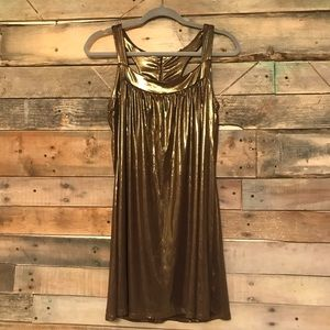 Forever 21 shimmer bronze tank dress